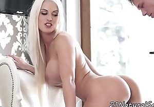 Busty european model gets cum on pussy