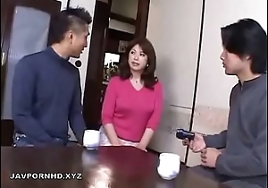 Japanese Mom upon bathroom fucked by Son cock