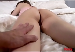 Pervy dad sneaks earn daughter'_s pussy!