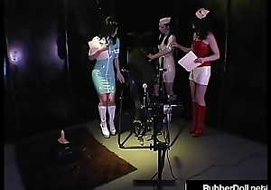 HN Rubberella Trains RubberDoll &amp_ Anastasia On Fuck Machines