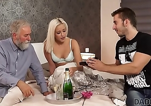 DADDY4K. Amazing pater and young girl sex ended with cumshot exposed to ass
