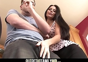 Sexy Brunette MILF Step Mom Nikki Daniels Fucked Overwrought Step Son After Hearing Him Fuck His Girlfriends With Cumshot