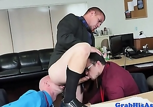 Office employee riding and sucking cocks