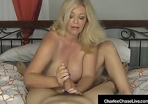 Busty Blonde Milf Charlee Chase Strokes Your Cock In Bed!