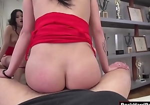 Busty Emily gets her pussy fucked by Rocco
