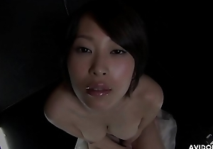 Big breasted Japanese babe Saki Otsuka gives head in POV