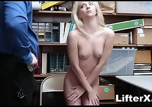 SHY PERKY BLONDE TAKES HUGE LOAD AFTER STEALING- LifterX.com