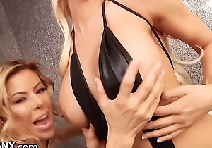 LesbianX Luna Star &amp_ Alexis Fawx SQUIRT In all directions from Over Each Other