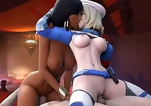Overwatch Pharah and Mercy Arhoangel  famous cartoons