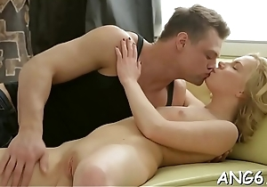 Raucous anal and beaver satisfying for cute babe
