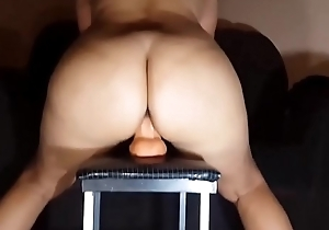 Dazzling Milf With A Fertile in Pussy Riding Her Dildo