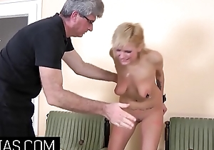 Little blonde slut needs a cruel Master