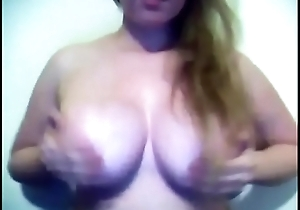 Sexy babe playing with her big tits - Keep in view part 2 on getgirls.online