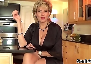 Number one english milf lady sonia shows off her giant breasts