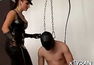 Man gets his learn of sucked in some sizzling hot fetish act