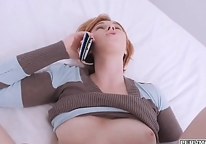 Stepmom got fucked while on the phone