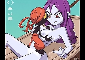 Risky Boots from the Shantae games gets her huge cartoon tits fucked and a facial with attachment futa scenes