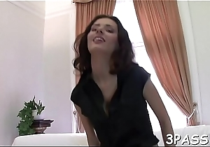 Hot as a hell babe in stockings get snatch screwed so well