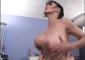 Horny cock sucking MILF Rhegan O'_Makin takes dick in her wet twat before getting splooged