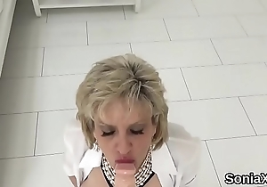 Unfaithful english mature lady sonia shows retire from her large tits