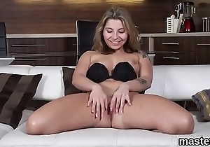 Feisty czech chick opens up her tight quim to the extreme