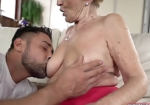 fucker is putting his throbbing dick in and out of the gaping pussy