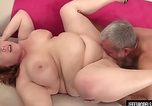 Chubby Redhead Annabel Redd Gets Her Mouth and Pussy Plowed by a Fat Cock