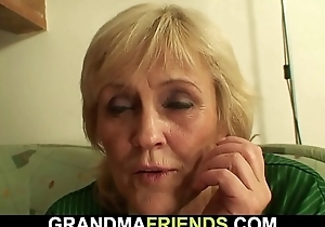 Skinny granny losts bet and gets fucked