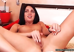 Petite Dark Haired Teen Penetrate Her Pussy