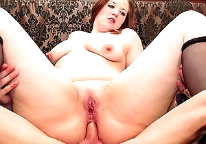 LA NOVICE - Sweet BBW French newbie enjoys hot pussy and aggravation fuck