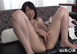 Floozy milf takes large dildo in ass and cunt while she groans