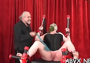 Sexy female fucked and stimulated in extraordinary serfdom