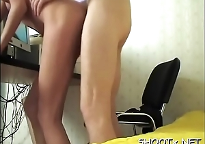 Luscious sweetheart treats her go steady with with a engulf and fuck