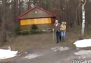 Sex-mad old and young sex with hot babe taking the weenie hard