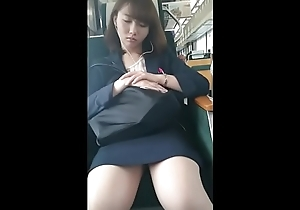 Japanese office lady sleeping voyeur