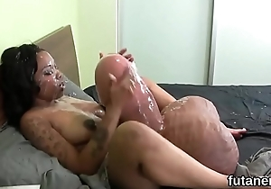 Kinky nymphos penetrate the biggest strapons and spray semen all around the berth