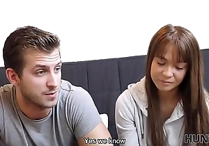 HUNT4K. Chick Angella Christin fucked away from stranger on couch for cash