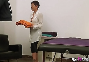 My name'_s Lisa, 37yo masseuse, and I grit film myself fucking a patient