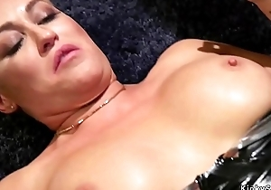 Mistress whipping her lesbian sex toys