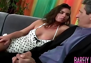 Stunning young Naomi seduces stepdaddy before anal plowing