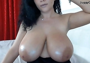 Monster big tits on webcam